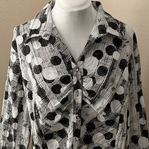 Cato Woman Sparkle Pattern Button Up, Size 18/20W